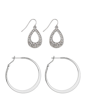 Teardrop & hoop earrings duo by Lane Bryant