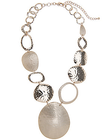 Lane Collection hammered pendant necklace