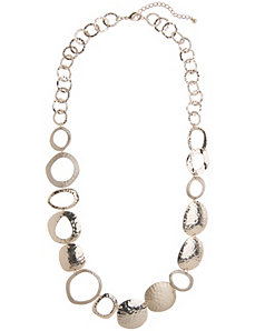 Lane Collection hammered chain necklace