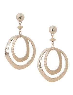 Lane Collection hammered hoop earrings