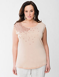 Lane Collection embellished tee by LANE BRYANT