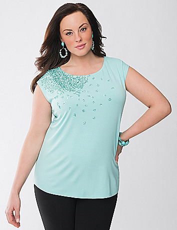 Lane Collection embellished tee