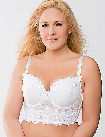 Bridal Lace Longline Bra by Cacique