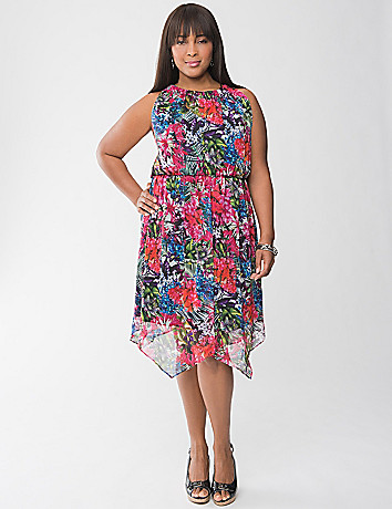 Asymmetric floral dress by Lane Bryant