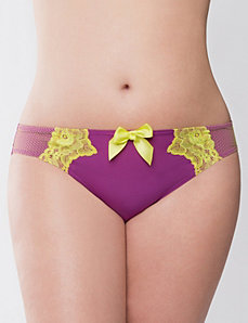 Tanga panty with neon lace