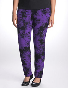 Tie dye French terry skinny by LANE BRYANT