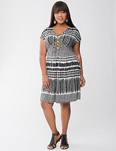Tribal print embellished dress by Lane Bryant