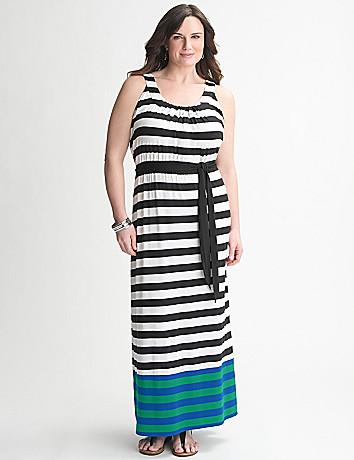 Striped Maxi Dress by Lane Bryant