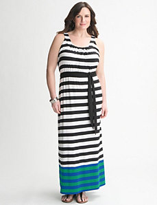 Striped Maxi Dress by Lane Bryant