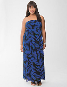 Print chiffon maxi dress by Lane Bryant