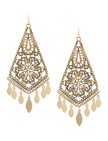 Lane Collection filigree chandelier earrings
