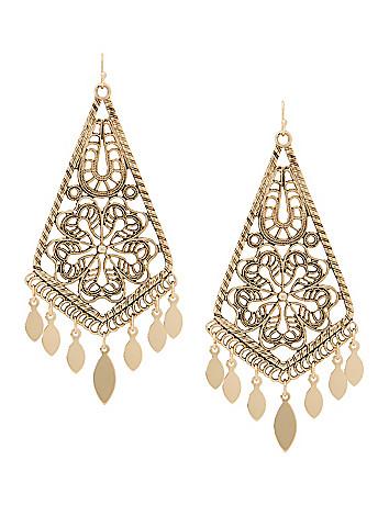 Lane Collection filigree chandelier earrings