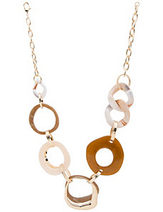 Lane Collection modern link necklace by Lane Bryant