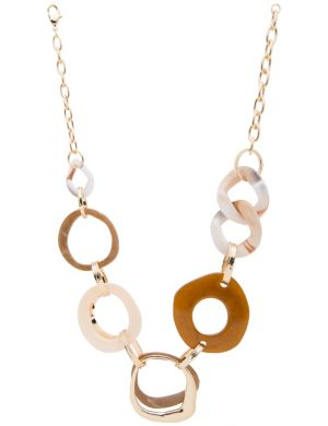 Lane Collection modern link necklace