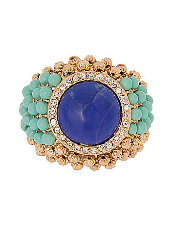 Lane Collection beaded cocktail ring