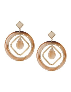 Lane Collection mixed hoop earrings