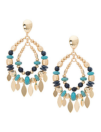 Lane Collection charm teardrop earrings