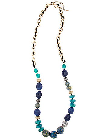 Lane Collection bead & chain necklace