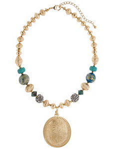 Lane Collection beaded pendant necklace