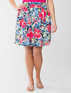 Full Figure Floral Flippy Skirt by Lane Bryant
