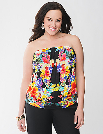 Floral tube top by Lane Bryant