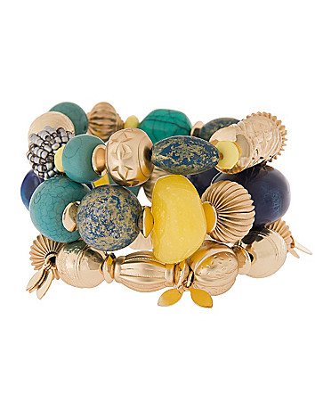 Lane Collection 3 row stone bracelet by Lane Bryant