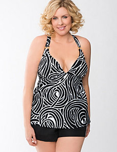 Swirl Print No Wire Swim Top by Cacique