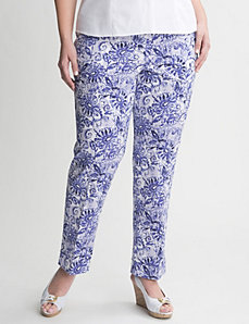Floral sateen ankle pant by LANE BRYANT