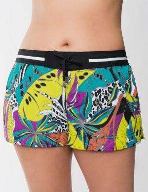 Tropical garden swim short