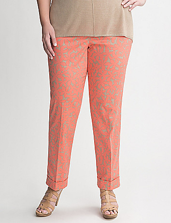 Floral Cuffed Ankle Pants