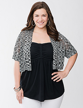 Plus Size Space Dye Shrug by Lane Bryant