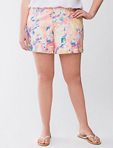 Printed jean short by LANE BRYANT