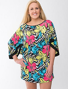 Floral kimono swim cover up by Cacique