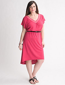 Crochet High Low Dress by Lane Bryant