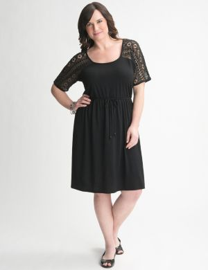 Crochet yoke tee dress