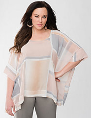 Geo print square top by Lane Bryant