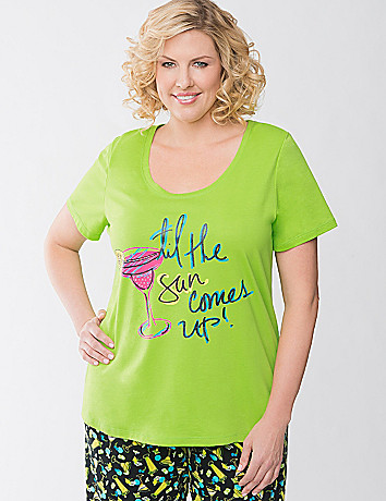 Sun Comes Up sleep tee by Cacique