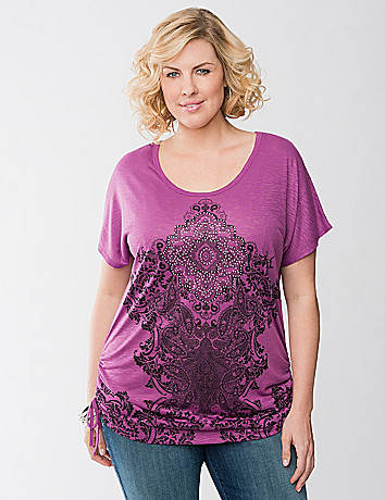 Embellished scroll tee by Lane Bryant
