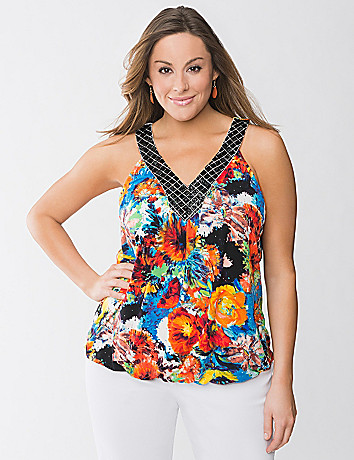 Embellished floral tank by Lane Bryant