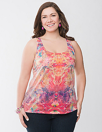 Sequin graphic tank