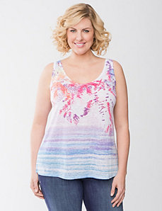Embellished burnout tank by Lane Bryant