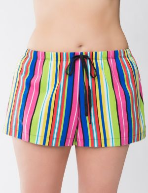 Striped knit sleep short