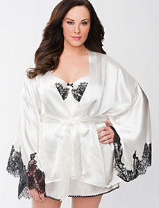 Charmeuse bridal robe by Cacique