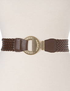 Ring buckle woven belt