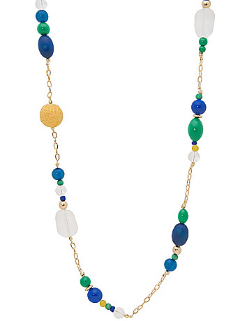 Long multi bead necklace by Lane Bryant
