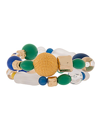 Mixed bead bracelet duo by Lane Bryant