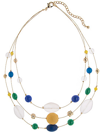 Beaded illusion necklace by Lane Bryant