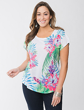 Floral high-low tee by Lane Bryant