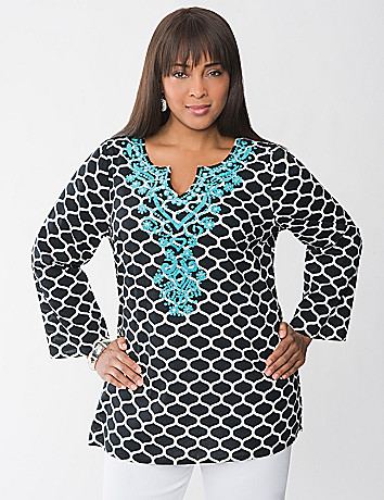 Full Figure Embroidered Kurta Tunic by Lane Bryant