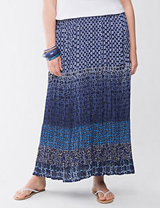 Lane Collection multi print skirt by Lane Bryant